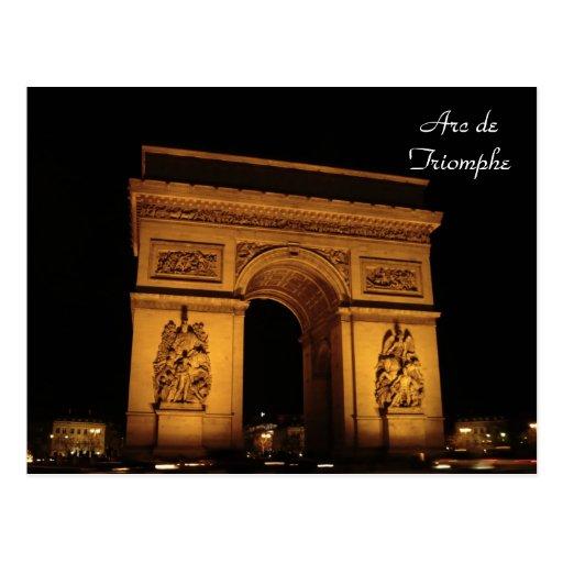 Iluminaciones de París: Arco del Triunfo Postal