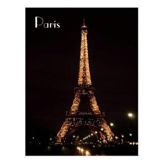 Iluminaciones de París La torre Eiffel Postal