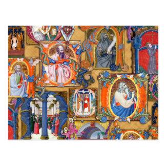 Iluminaciones medievales postales