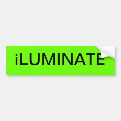 iLUMINATE: Pegatina para el parachoques insano ENF Etiqueta De Parachoque