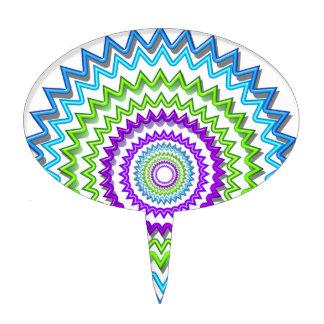 Ilumine BlueStar Chakra - púrpura en el corazón Decoración Para Tarta