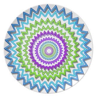 Ilumine BlueStar Chakra - púrpura en el corazón Plato De Comida