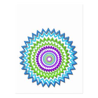 Ilumine BlueStar Chakra - púrpura en el corazón Tarjetas Postales