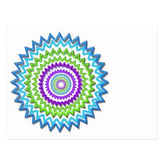 Ilumine BlueStar Chakra - púrpura en el corazón Postales