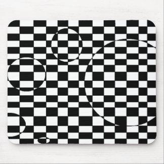 Ilusión a cuadros negra y blanca 3d alfombrillas de ratón