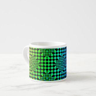 Ilusión a cuadros taza espresso
