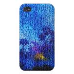 Ilusión azul 4s de la flor de la fantasía iPhone 4/4S fundas