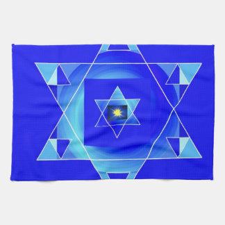 Ilusión azulada toalla de cocina