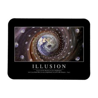 Ilusión: Cita inspirada Imán Foto Rectangular