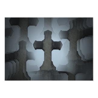 """ilusión cruzada 2 del cementerio invitación 5"""" x 7"""""""