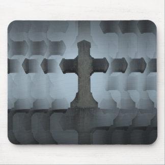 ilusión cruzada del cementerio mousepads