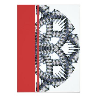 "Ilusión de 4 ondas invitación 5"" x 7"""