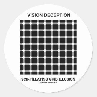 Ilusión de centelleo de la rejilla del engaño de V Etiqueta