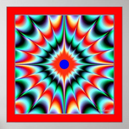 Ilusión de la explosión del color impresiones