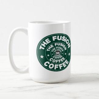 Ilusión de la fusión taza de café