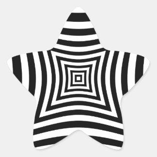 Ilusión de la perspectiva pegatina en forma de estrella