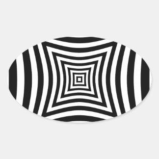 Ilusión de la perspectiva pegatina ovalada