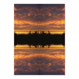 """Ilusión de la reflexión invitación 5"""" x 7"""""""
