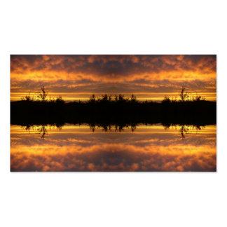 Ilusión de la reflexión plantillas de tarjetas de visita
