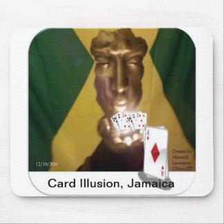 Ilusión de la tarjeta tapetes de raton