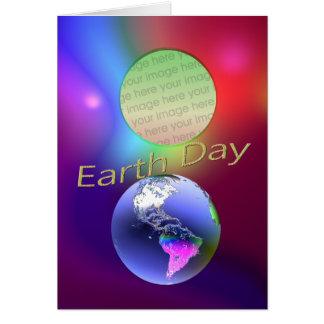 Ilusión de la tierra (marco de la foto) tarjeta de felicitación