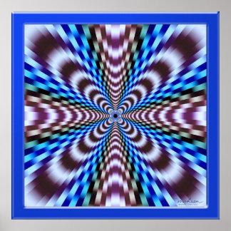 Ilusión de la vibración póster