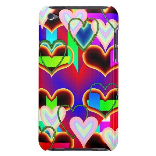 Ilusión de los corazones de Kenneth Yoncich Case-Mate iPod Touch Funda