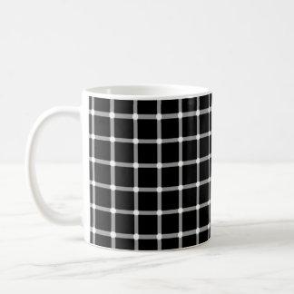 Ilusión de los puntos que destella taza clásica