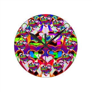 Ilusión de los relojes de los corazones