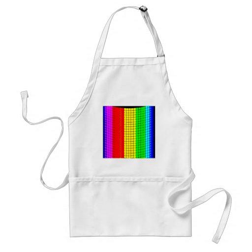 ilusión del arco iris delantal