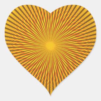 Ilusión del azafrán pegatina en forma de corazón