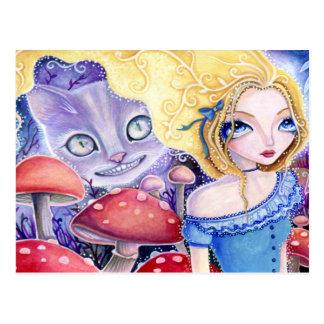 Ilusión del gato de Cheshire - postal