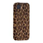 Ilusión del leopardo de Valxart Case-Mate iPhone 4 Fundas