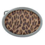 Ilusión del leopardo de Valxart Hebilla De Cinturon
