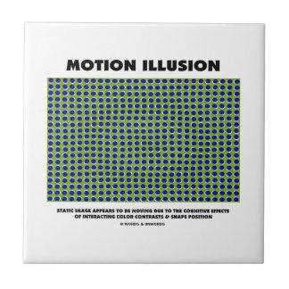 Ilusión del movimiento (ilusión óptica) azulejo cuadrado pequeño