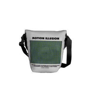 Ilusión del movimiento (ilusión óptica) bolsas de mensajeria