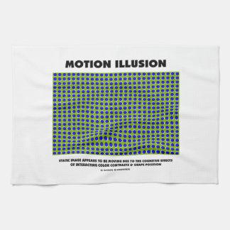Ilusión del movimiento ilusión óptica toallas de mano
