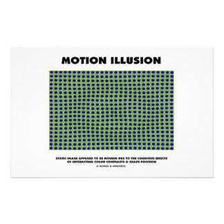 Ilusión del movimiento (ilusión óptica) papelería personalizada
