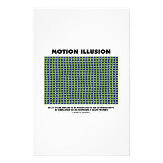 Ilusión del movimiento (ilusión óptica) papeleria de diseño