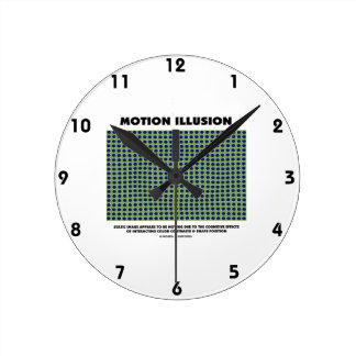 Ilusión del movimiento (ilusión óptica) reloj redondo mediano