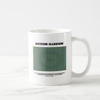 Ilusión del movimiento (ilusión óptica) taza básica blanca