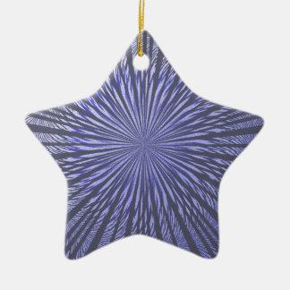 Ilusión del negro azul adornos de navidad