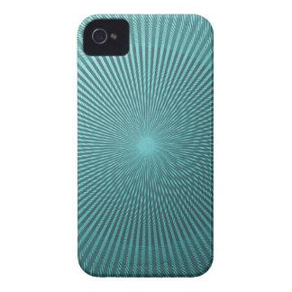 Ilusión del pavo real iPhone 4 Case-Mate fundas