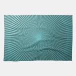 Ilusión del pavo real toallas de mano