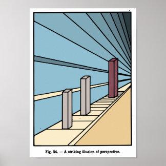 Ilusión del poster de la perspectiva