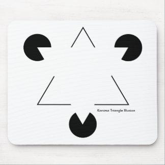 Ilusión del triángulo de Kenizsa Alfombrilla De Raton