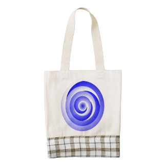 Ilusión espiral azul bolsa tote zazzle HEART