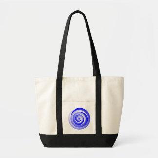 Ilusión espiral azul de Kenneth Yoncich Bolsa Tela Impulso