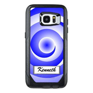 Ilusión espiral azul de Kenneth Yoncich Funda OtterBox Para Samsung Galaxy S7 Edge
