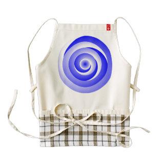 Ilusión espiral azul delantal zazzle HEART